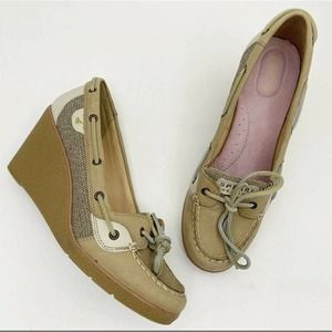 SPERRY Top-Sider Wedge Boat Shoe  7.5M